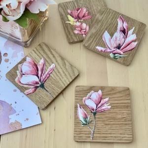 Magnolia Paper Coasters