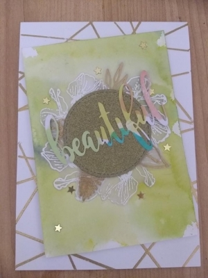 WATERCOLOUR BACKGROUNDS AND FLORAL STAMPING