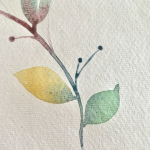 Watercolour Rainbow Leaves - Step by step