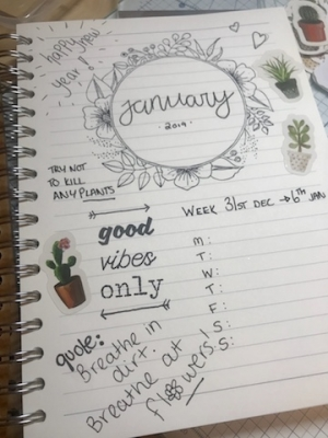 New Year Planner/Journalling with Claire