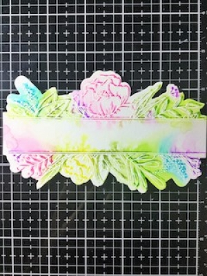 Loose watercolour stamping with Liane