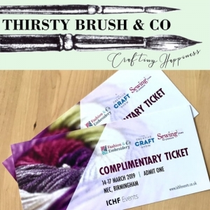 Thirsty Brush News, Giveaway and Heat Embossing Blog Project!
