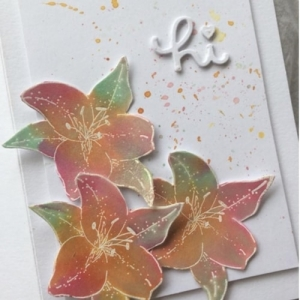 Easy Watercolour Lilies with Kerry