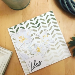 Elegant Lily just for you card tutorial