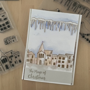 Winter Scene Watercolour Card with Claire