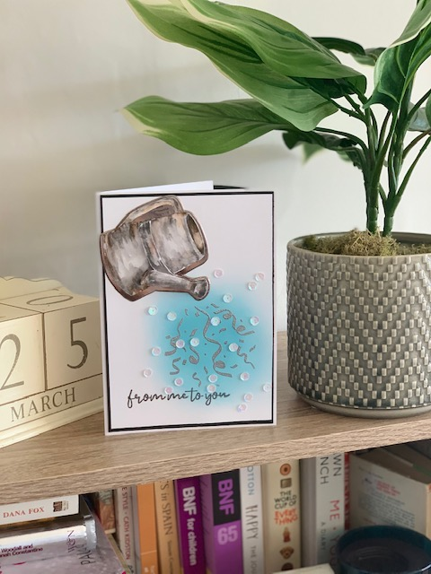 Watercolour watering can