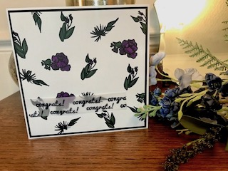Bold lines botanical card