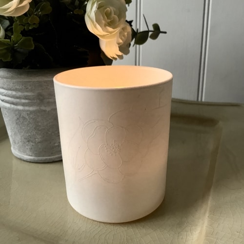 Heat Embossed Candle Holder