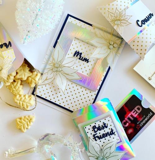 holographic Christmas set