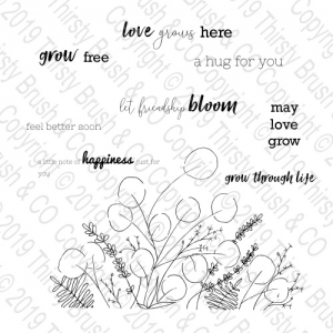 STAMP LET FRIENDSHIP BLOOM