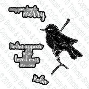 Die Set Merry Robin