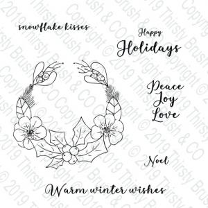 Happy Holidays A5 Stamp Set