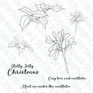 Under The Mistletoe A5 Stamp Set