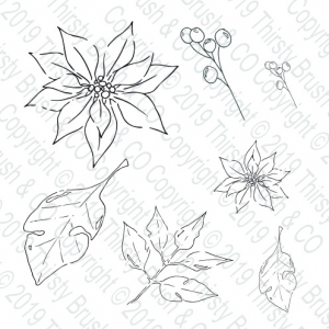 Poinsettia A5 Stamp Set