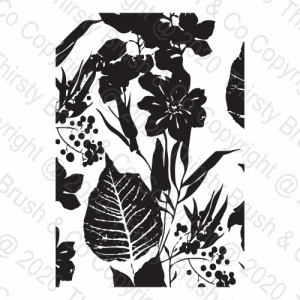 A5 STAMP WILD BLOOMS
