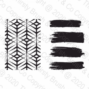 A5 STAMP SET PAINTERLY BACKGROUND