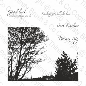 A5 STAMP SET SCENIC BACKGROUND
