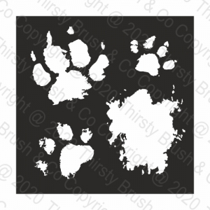 STENCIL PAINTED PAWS