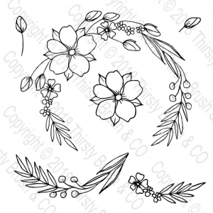 best blossoms wreath stamp