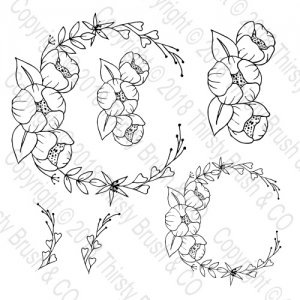 perfect peony wreath stamp